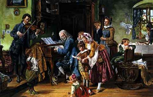 The Bach Family at music practice