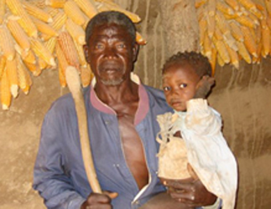 Dagara grandfather and grandson