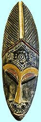 Dagara mask from North Ghana to bring  power and courage to the wearer