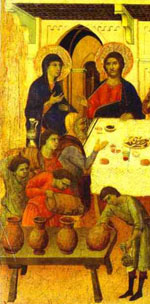 Wedding at Cana by Duccio