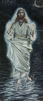 Jesus Walking on the Sea James Tissot (1836-1902 French)