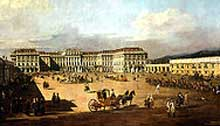 Schonbrunn Palace by Canaletto 1758