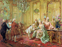 Mozart Presentation to Madame de Pompadour in 1763, at Versailles, by Vicente Garcia de Paredes