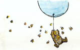 You can never tell with bees, says Pooh