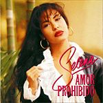 Selena on the cover of Amor Prohibido
