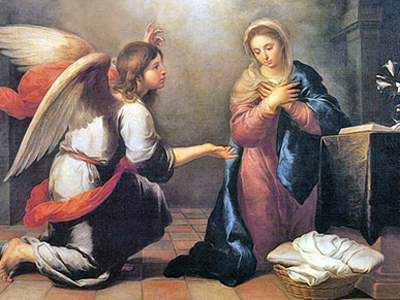 The Annunciation by Murillo