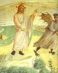 Temptation of Christ by Fra Angelico