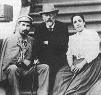 Tchaikovsky with Nikolay and Medea Figner who sang Hetmann and Liza
