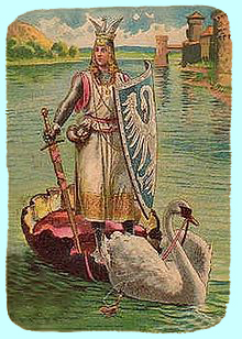 Lohengrin postcard from around 1900